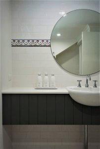 bathroom with toiletries